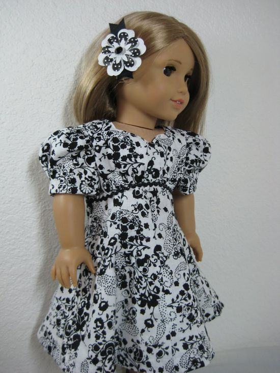 18 Inch Doll Clothes American Girl 1940s Black and by nayasdesigns, $28.00