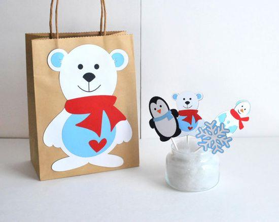 Christmas Polar bear Christmas Gift wrapping by Mariapalito