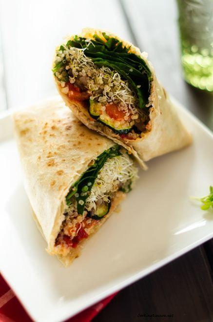Grilled Veggie Quinoa Wrap by cookingquinoa #Wrap #Veggie #Quinoa
