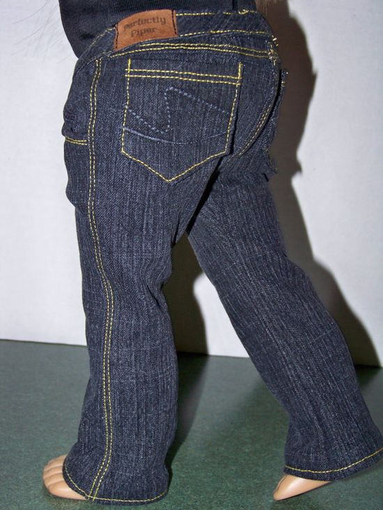 Perfectly Piper Designer Jeans for American Girl dolls from altered Liberty Jane pattern