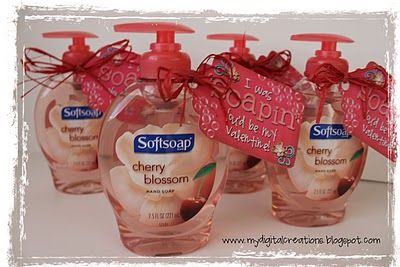 I was SOAPIN' you'd be my valentine!  ~free printable~  ...I'm thinking teacher gift