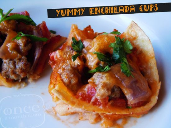 Yummy Enchilada Cups - lunch #freezermeals #freezercooking