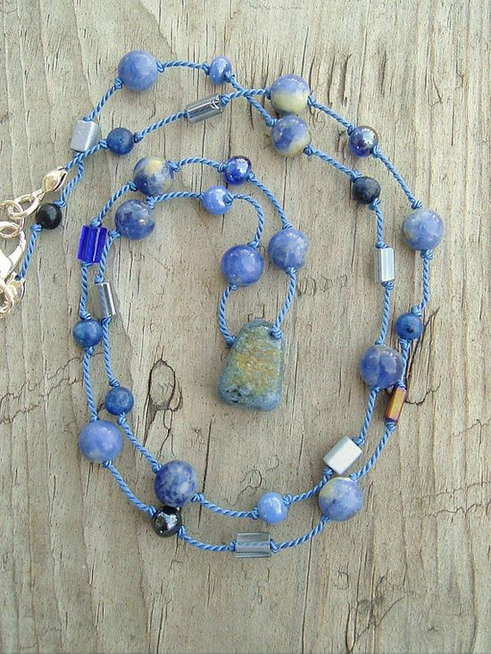 Boho Friendship Necklace Gemstone Necklace Everyday by BohoStyleMe