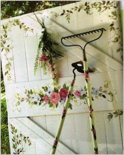 paint or stencil a garden gate
