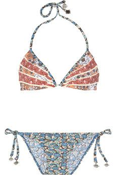 ZIMMERMANN Collector printed ruffled triangle bikini