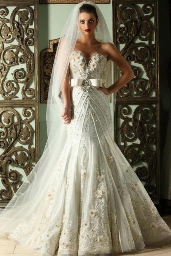 www.weddbook.com everything about wedding ? Gorgeous strapless wedding dress #wedding #wedding #fashion