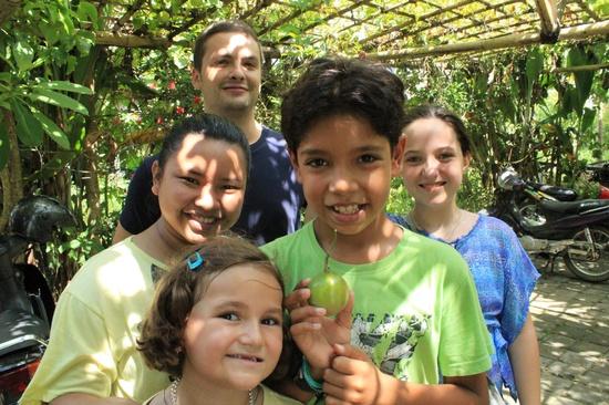 At Sari Organik organic farm in Ubud w/ a great group of raw food loving kids and their teacher