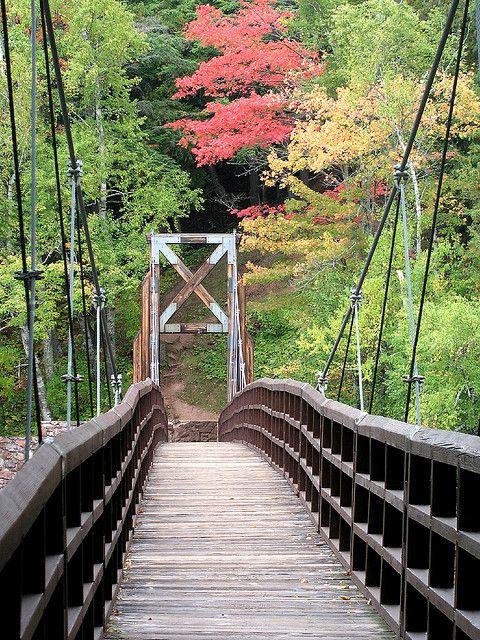 bridge over black river, black river byway, upper peninsula