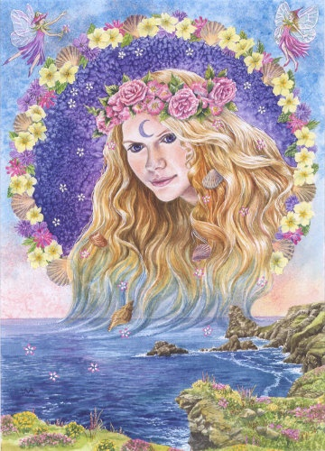 """Cordelia is the beautiful Goddess of spring and summer flowers, and of flower fairies. Shakespeare portrayed Cordelia as the daughter of King Lear in his play of the same name. However, She's actually the daughter of the sea god, Lir, so She was born a sea Goddess."