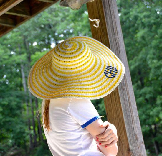Monogrammed Derby Hats