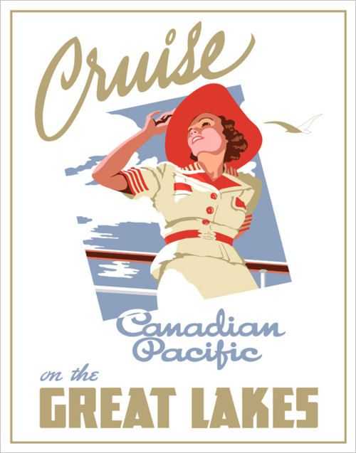 A beautiful vintage 1930s Canadian Pacific travel poster. #vintage #travel #posters