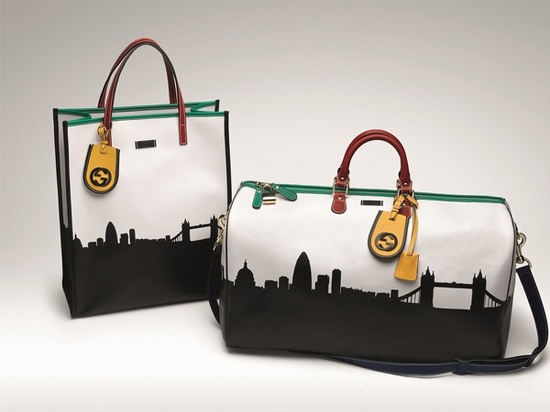 gucci city collection bags with multicoloured leather trim and leather tag