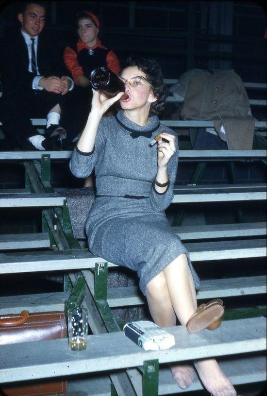 1950s, bleachers, cat eye