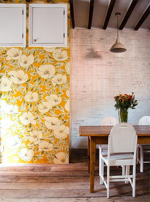painted wallpaper #designsponge