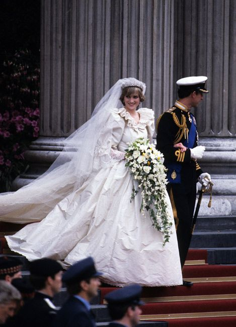 Princess Diana's iconic wedding dress.