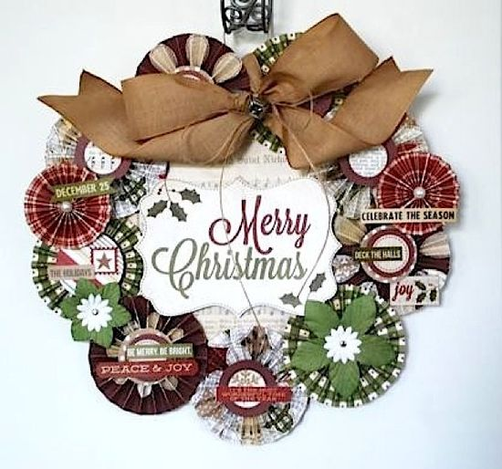 Merry Christmas wreath - Scrapbook.com