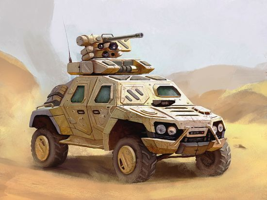 Armoured vehicle Picture  (2d, automotive, military, futuristic, vehicle)
