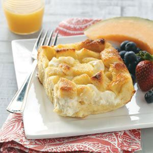 Breakfast Bread Pudding ~ yummy, it has cream cheese in it :)