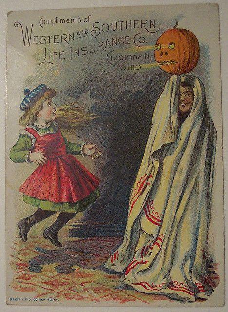 Vintage Halloween Trade Card