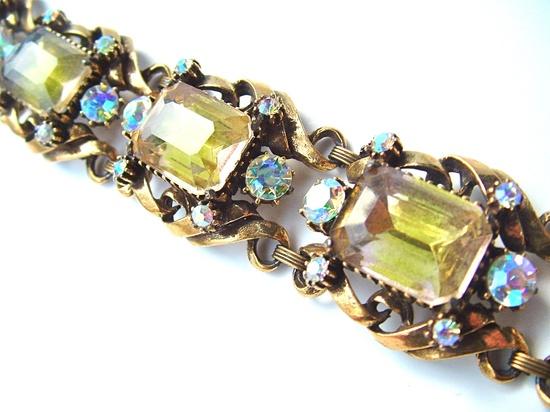 FLORENZA Vintage Designer Bracelet Signed Jewelry by kiamichi7