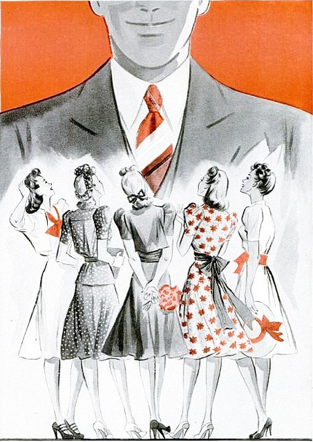 From an ad for Regal Cravats, 1940. #vintage #1940s #fashion #ads