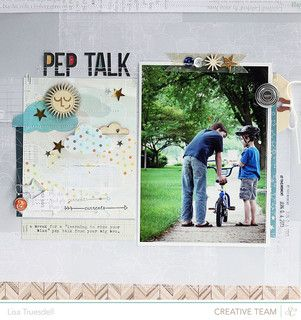 #papercraft #scrapbook #layout     pep talk // studio calico storytime by gluestickgirl at @Studio_Calico #SCstorytime