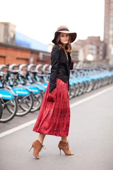 The 50 Best Street Style Moments of 2011 - Olivia Palermo. Love this outfit, but I wouldn't wear the hat.