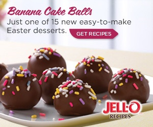 1/2 cup  cold milk  1 pkg.  (3.4 oz.) JELL-O Vanilla Flavor Instant Pudding  1 small  fully ripe banana, mashed  1 pkg.  (10.75 oz.) frozen pound cake, thawed, crumbled into fine crumbs  3 pkg.  (4.4 oz. each) milk chocolate bars, chopped  2 Tbsp.  multi-colored sprinkles