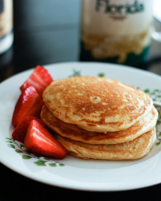 Orange- Vanilla Greek Yogurt Pancakes