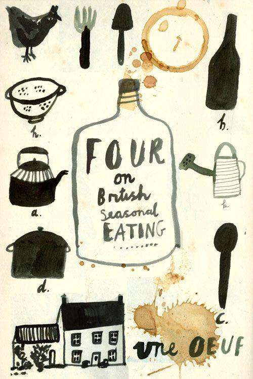 A recipe book cover design.