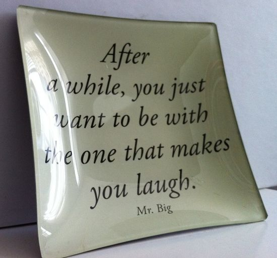 Fun glass dishes with Carrie Bradshaw and Mr Big Quotes by modwedding, via Flickr