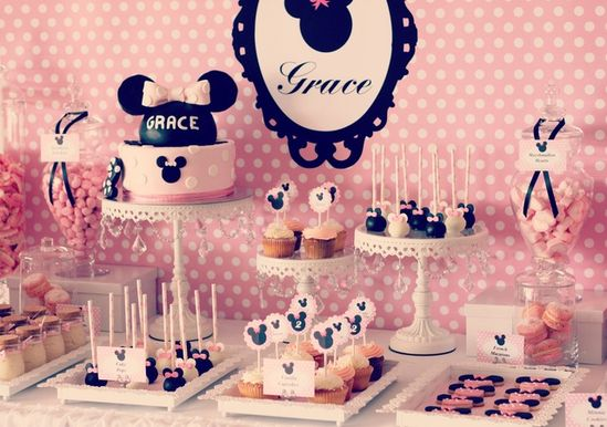 Minnie mouse party theme