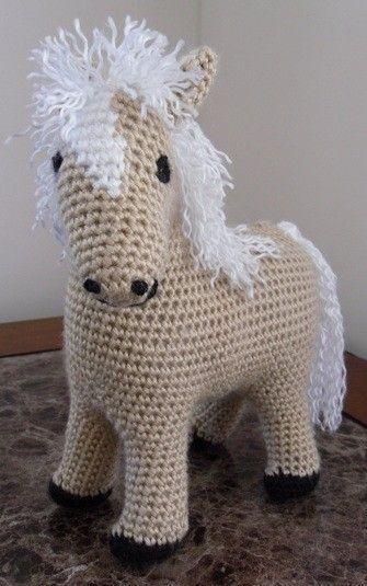 Pretty  Palomino  Handmade Crochet Plush Toy