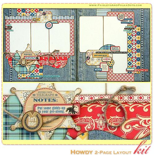 cowboy up scrapbook layout