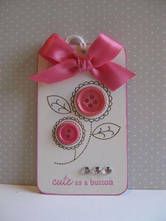 Gift Tag cute as a button