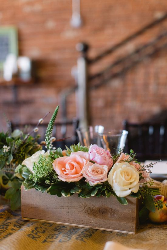 Box o' pretty roses. Farm + Factory Southern Styled Shoot from Gather Together