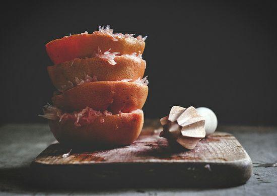 juiced grapefruits