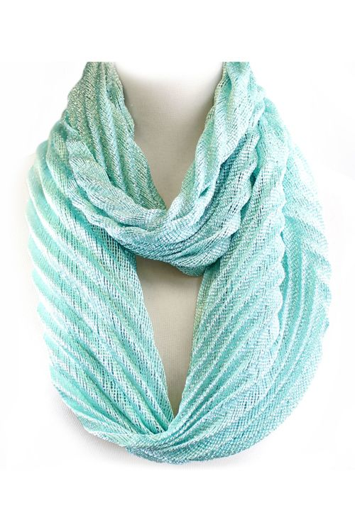 Liv Infinity Scarf in Water Blue Shimmer