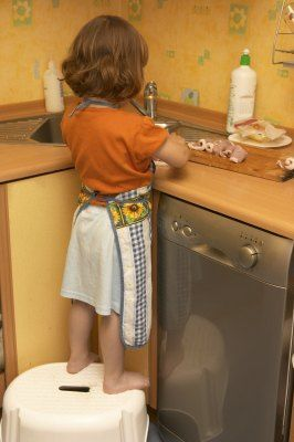 Cooking with Preschoolers -- Great list of things they can learn and foods they can make.