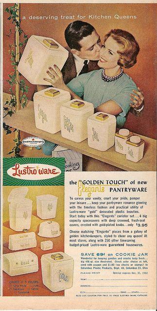 1963 pink lustro ware ad....