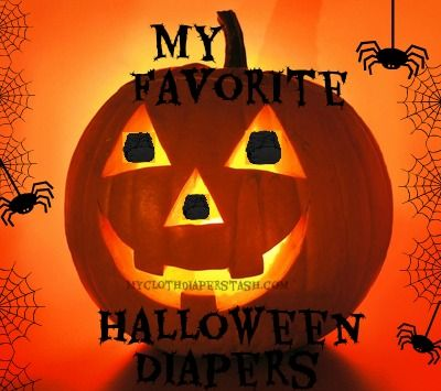 My favorite Halloween Cloth Diapers