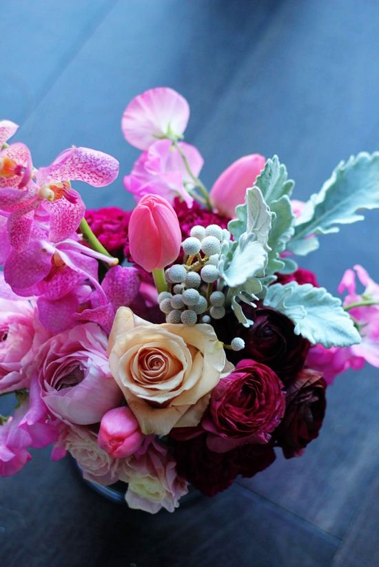 Mixed flower arrangement.