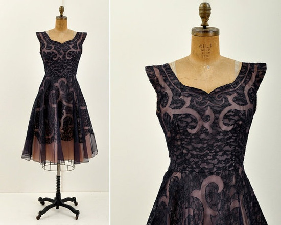 50s Tulle Lace Party Dress