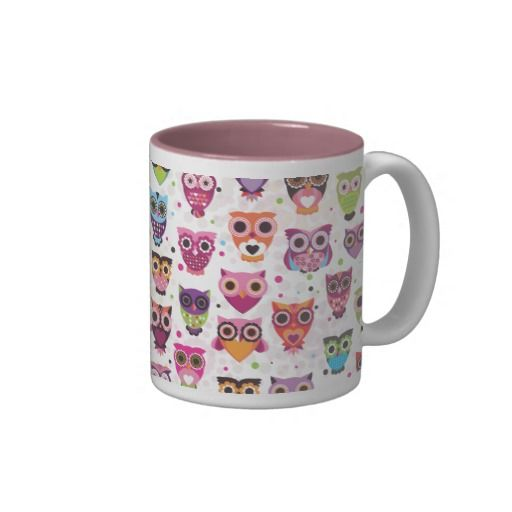 Cute #Owls pattern mug #giftideas
