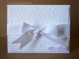 Embossed hand-made invitation