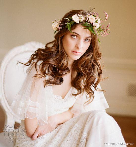 Delphine Manivet dress, and lovely flower crown