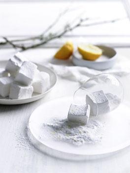 Lemon sherbet marshmallows.