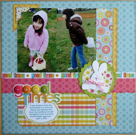 Love the title! #good #times #easter #scrapbook #layout