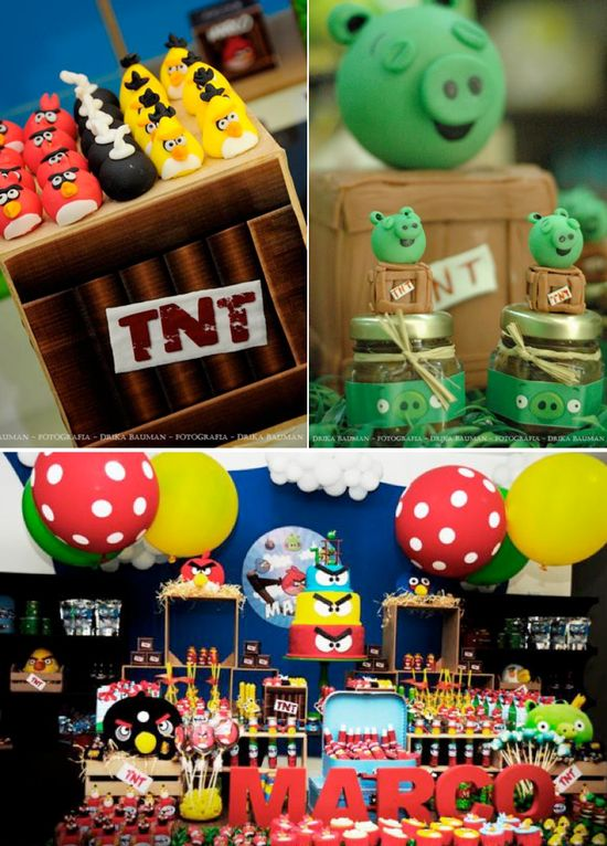 Angry Birds Birthday Party via Karas Party Ideas KarasPartyIdeas.com #angrybirds #angry #birds #birthday #party #ideas #planning #cake #decorations #supplies #cake #idea