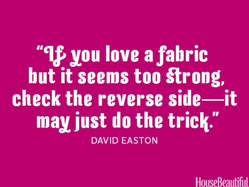 Fabric trick. #decorating #design #designer_quotes